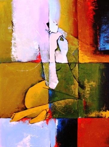 Serene 02 36 x 48 Mixed media on canvas