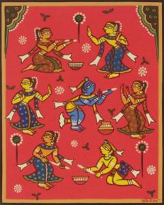 Jamini - Krishna playing Holi
